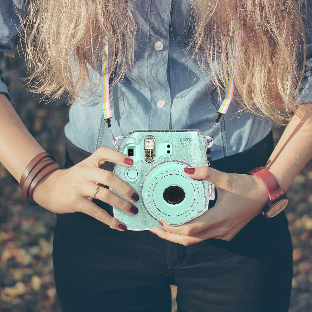 Marmor Muster White Premium Kunstleder Schutzh/ülle Reise Kameratasche H/ülle Abdeckung mit abnehmbaren Riemen Mini 9 Sofortbildkamera Fintie Tasche f/ür Fujifilm Instax Mini 8