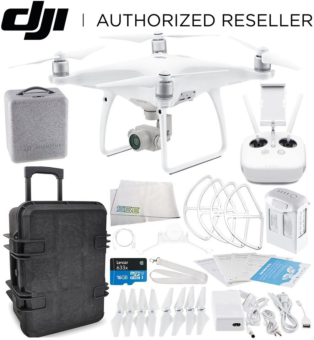 DJI Phantom 4 Advanced Quadcopter Travel Case Starters Bundle