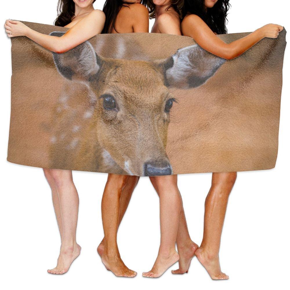 KTMB Animal Antelope Cute Deer Mammal Safari Wild Animal Wildlife Washable Extra Large Bath Beach Towel Soft Personality Towel