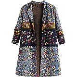 Abrigos Mujer Invierno Tallas Grandes Cálido Suelto Impreso Chaqueta EUZeo Hoodie Fiesta Capa Elegante Outwear…