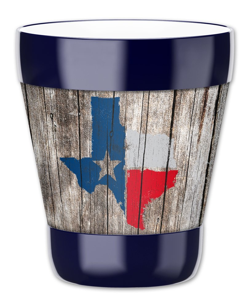 Mugzie 12-Ounce 'Low Ball' Tumbler Drink Cup with Removable Insulated Wetsuit Cover - Texas Map