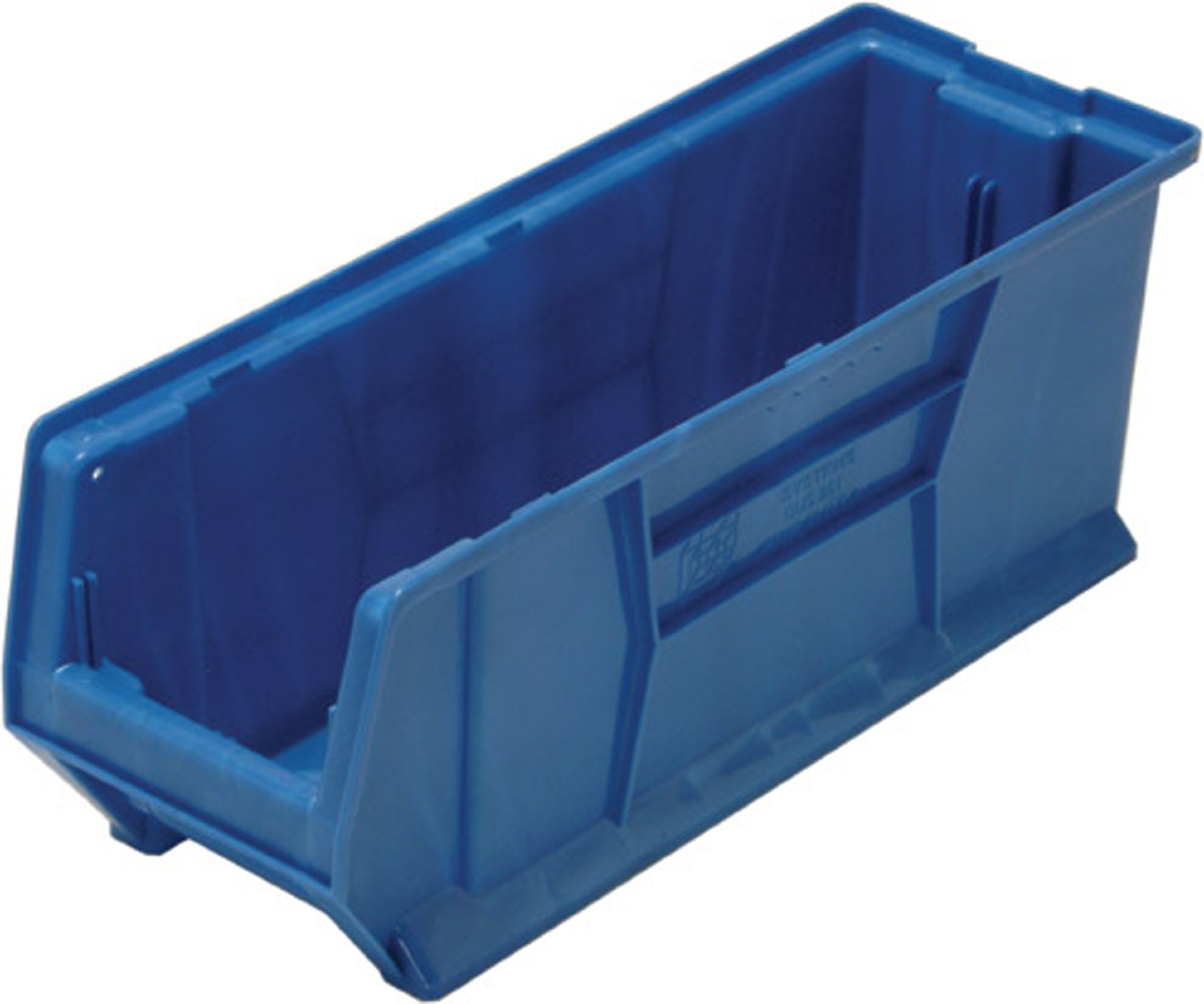 Quantum QUS951 Plastic Storage Stacking Hulk Container, 24-Inch by 8-Inch by 9-Inch, Blue, Case of 6