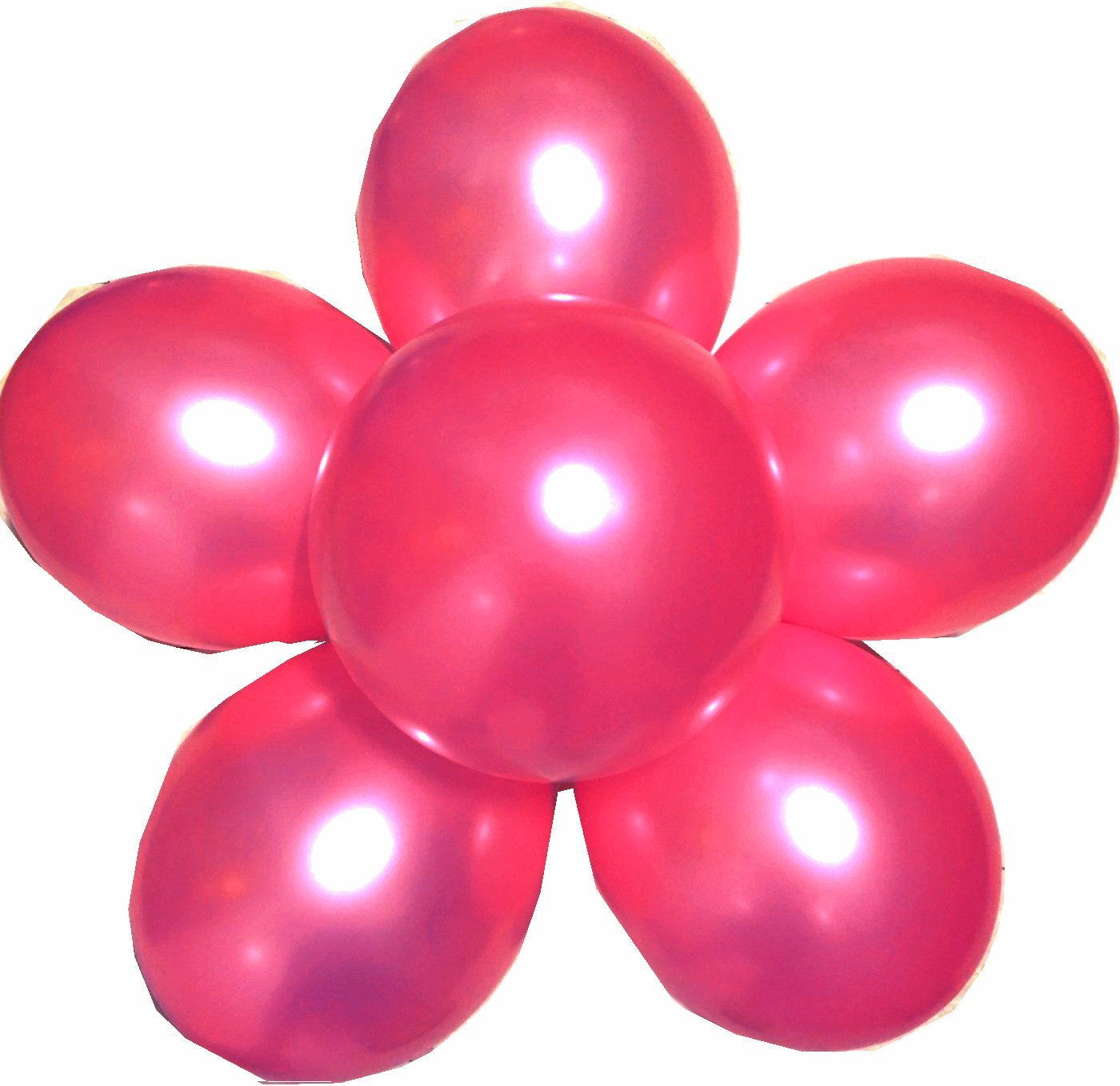 Elecrainbow 100 Pack 12 inch 3.2 g/pc Thicken Round Metallic Pearlescent Latex Balloons - Shining Rose Red Balloons for Party Supplies and Decorations