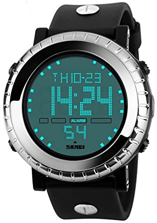 Carlien Sports Watches Fashion Outdoor Men Army Military LED Digital Watch Relojes Mens Wristwatches
