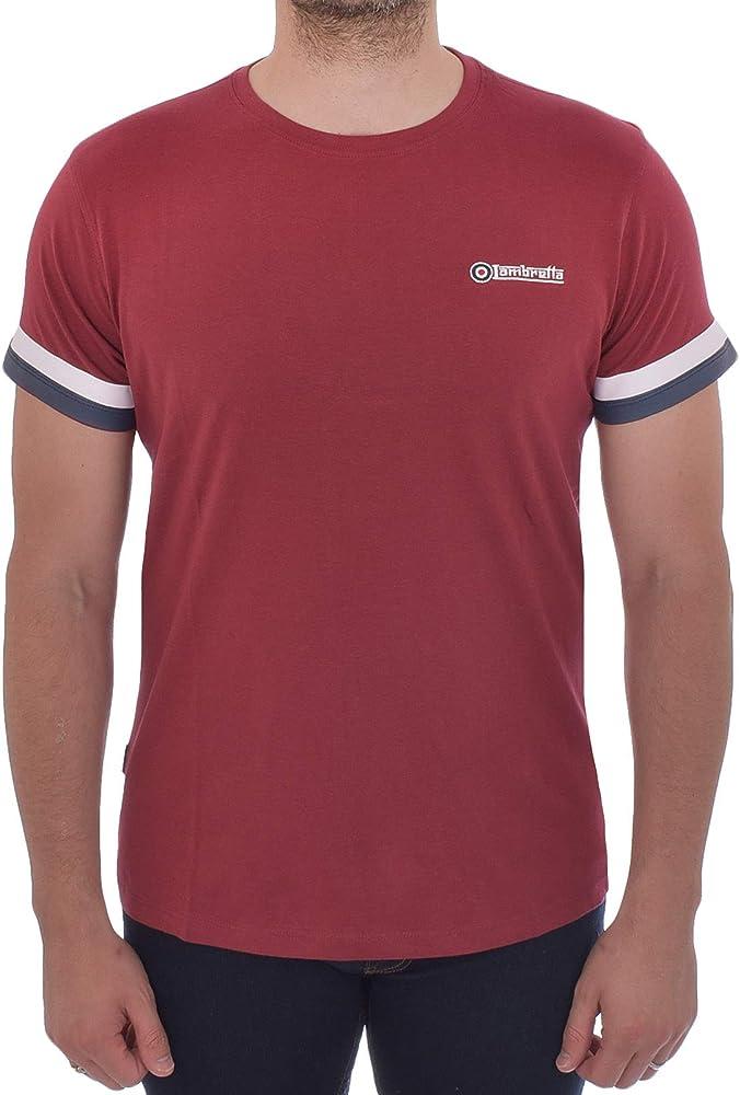 Lambretta - Camiseta de Manga Corta para Hombre (algodón) - Rojo ...