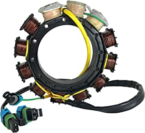 JETUNIT Genuine outboard 40 AMP Stator Assy Maganet Coil FOR Mercury V6 SportJet & 2.5Liter 135-150-175-200 HP 2000 & Up 398-858404T 4 L