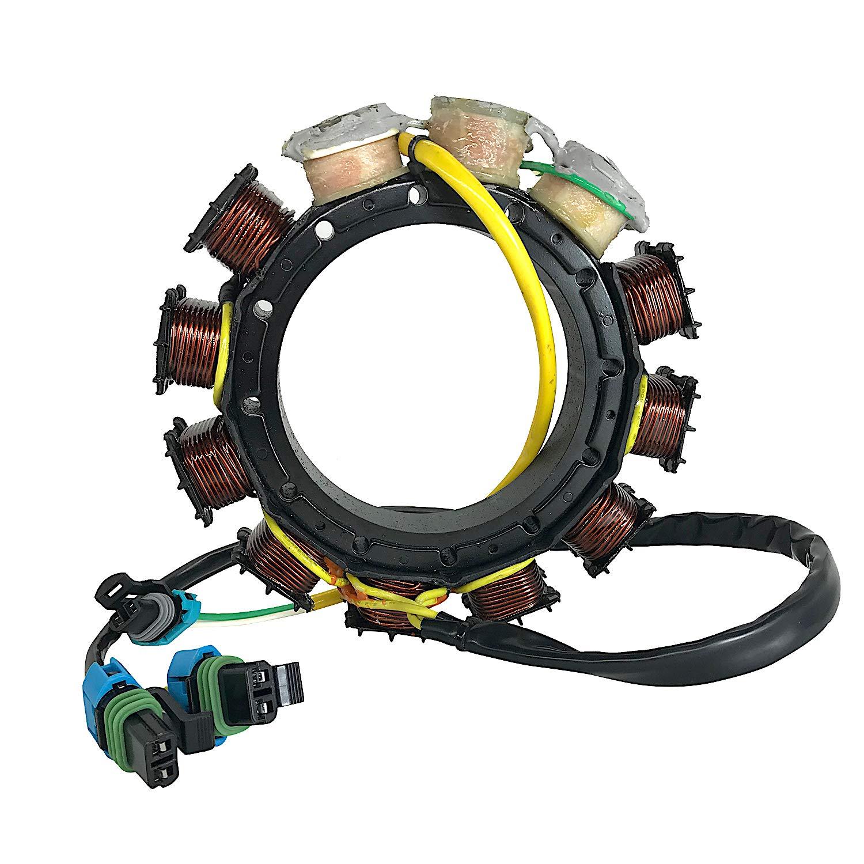JETUNIT Genuine outboard 40 AMP Stator Assy Maganet Coil FOR Mercury V6 SportJet & 2.5Liter 135-150-175-200 HP 2000 & Up 398-858404T 4 L by jetunit