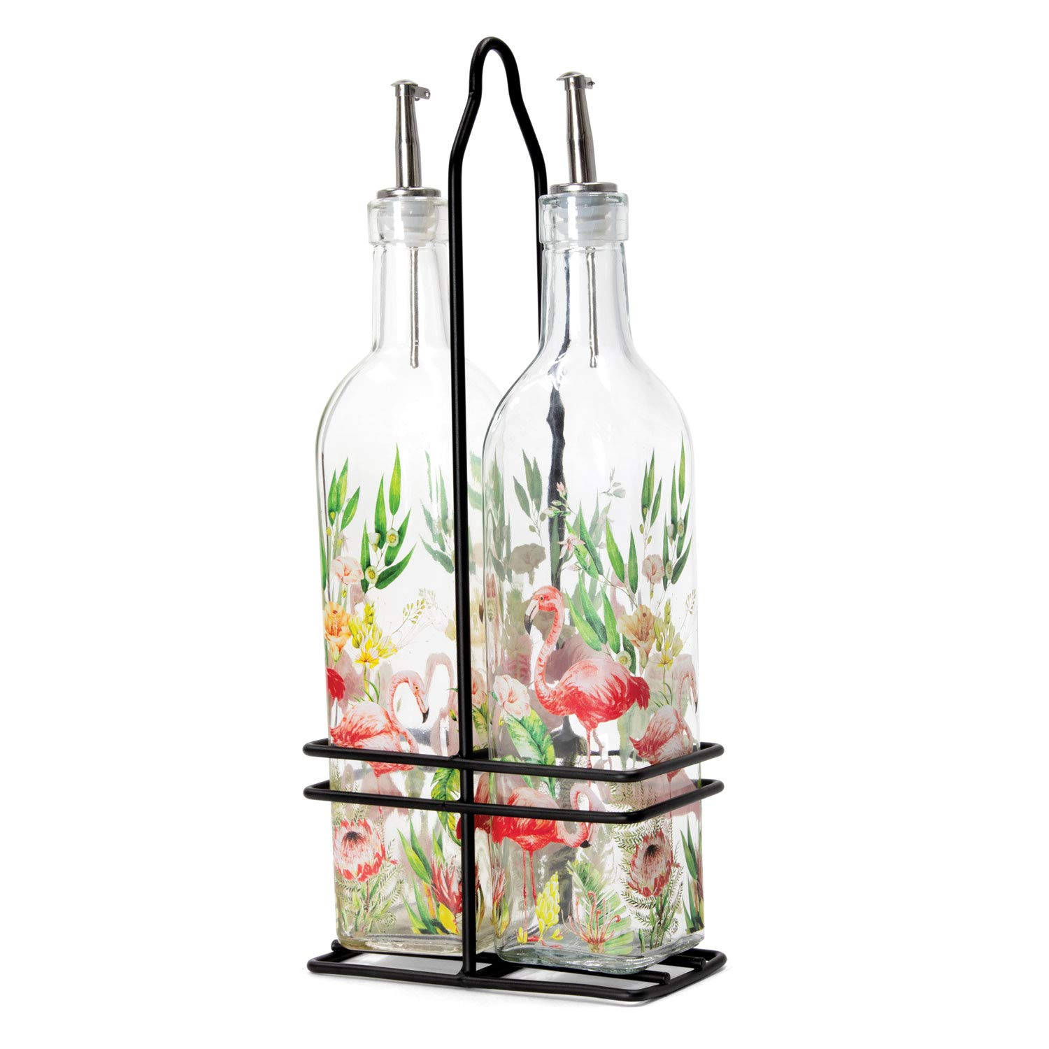 Michel Design Works Oil and Vinegar Cruet Set, Flamingo