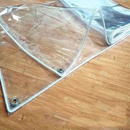ZAQI Lona Lona de PVC Transparente: Lona Impermeable de Alta Resistencia con Arandelas Resistentes a la corrosión, Cubierta automática para pérgola de Techo de Piscina, 0,3 mm (Size : 2×3m): Amazon.es: Hogar