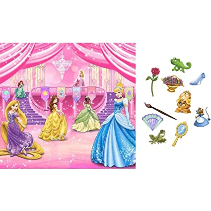 Room Art New DISNEY PRINCESS SCENE SETTER Birthday Party Wall Decoration BACKDROP Photo Props Amazoncouk Kitchen Home