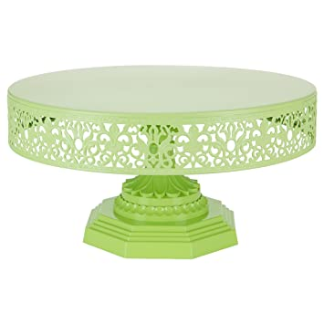 Isabelle Collection Lime Green 12 Inch Metal Cake Stand Round Wedding Birthday Party Dessert Cupcake  sc 1 st  Amazon.com & Amazon.com | Isabelle Collection Lime Green 12 Inch Metal Cake Stand ...