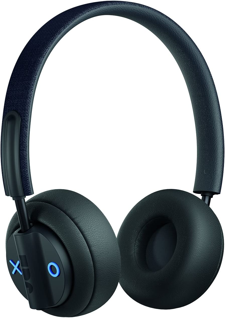 Out There, Active Noise Cancelling On-Ear Bluetooth Headphones  17 Hour Playtime, 50 ft. Range, Hands-Free Calling, Sweat and Rain Resistant IPX4 Rated  JAM Audio Black