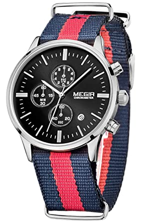 Lover's Watches Men Cool Calendar Watches Nylon Fabric Canvas Men Sports Watch Students Dress Hours Wristwatch