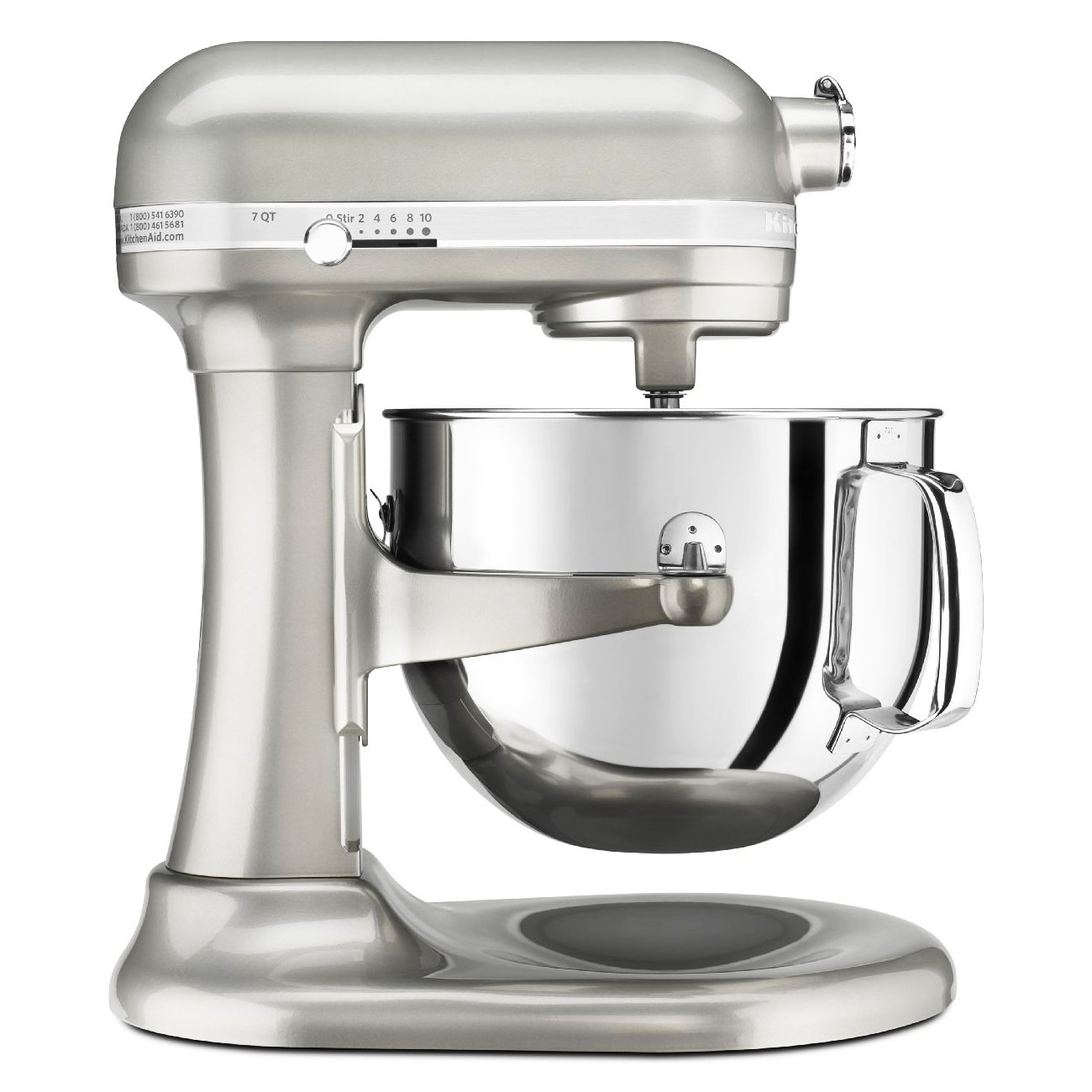 Amazon.com: KitchenAid KSM7586PSR 7 Quart Pro Line Stand Mixer Sugar Pearl  Silver: Electric Stand Mixers: Kitchen U0026 Dining