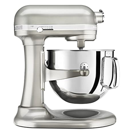 KitchenAid KSM7586PSR 7-Quart Pro Line Stand Mixer Sugar Pearl Silver by KitchenAid