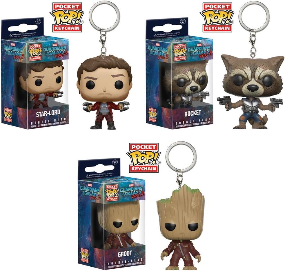 Marvel Funko Pocket POP Guardians of the Galaxy Vol 2 Keychain Star-Lord