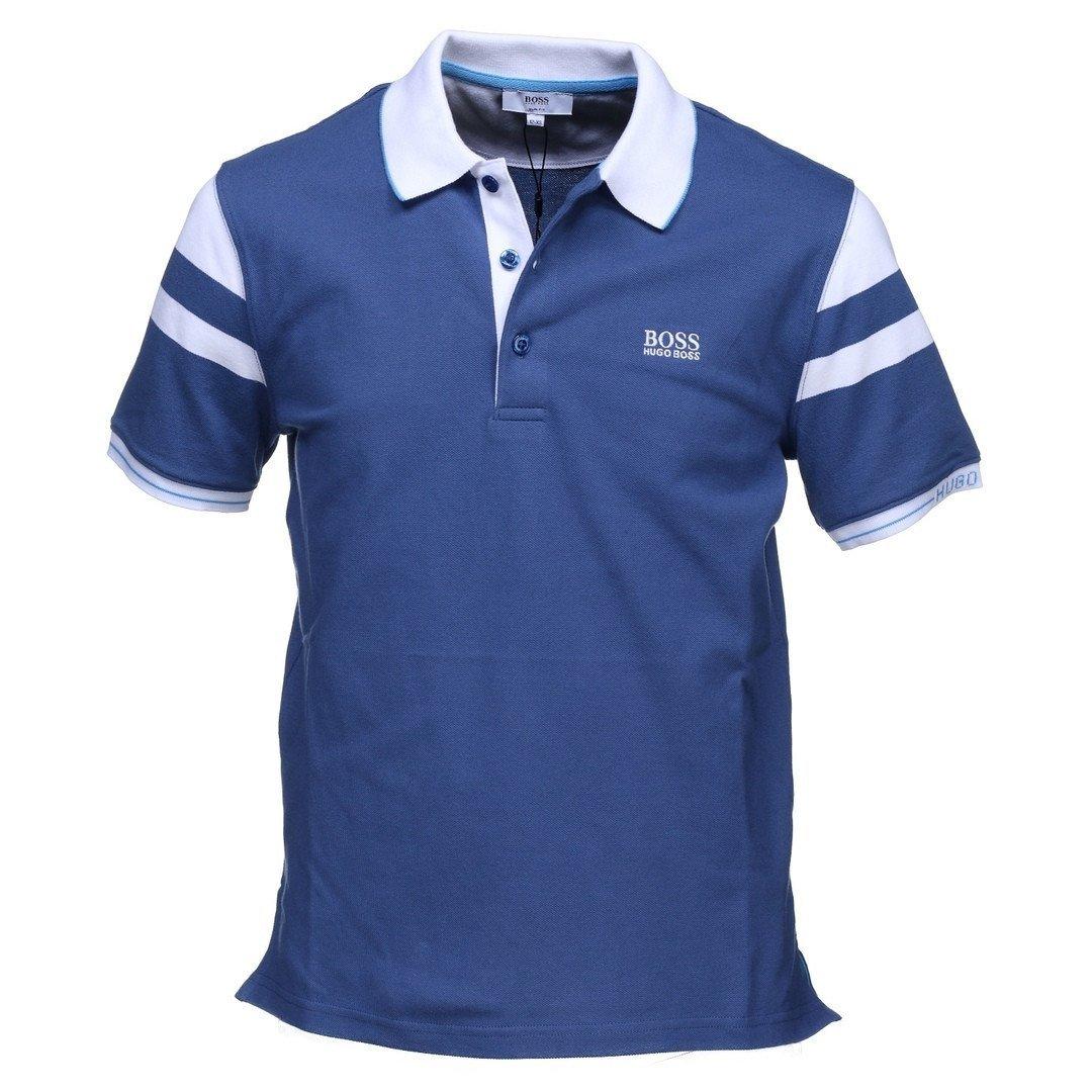 Navy White Short Sleeve Polo Shirt