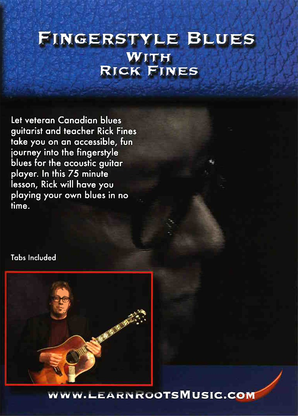 Amazon com: Fingerstyle Blues with Rick Fines: Rick Fines
