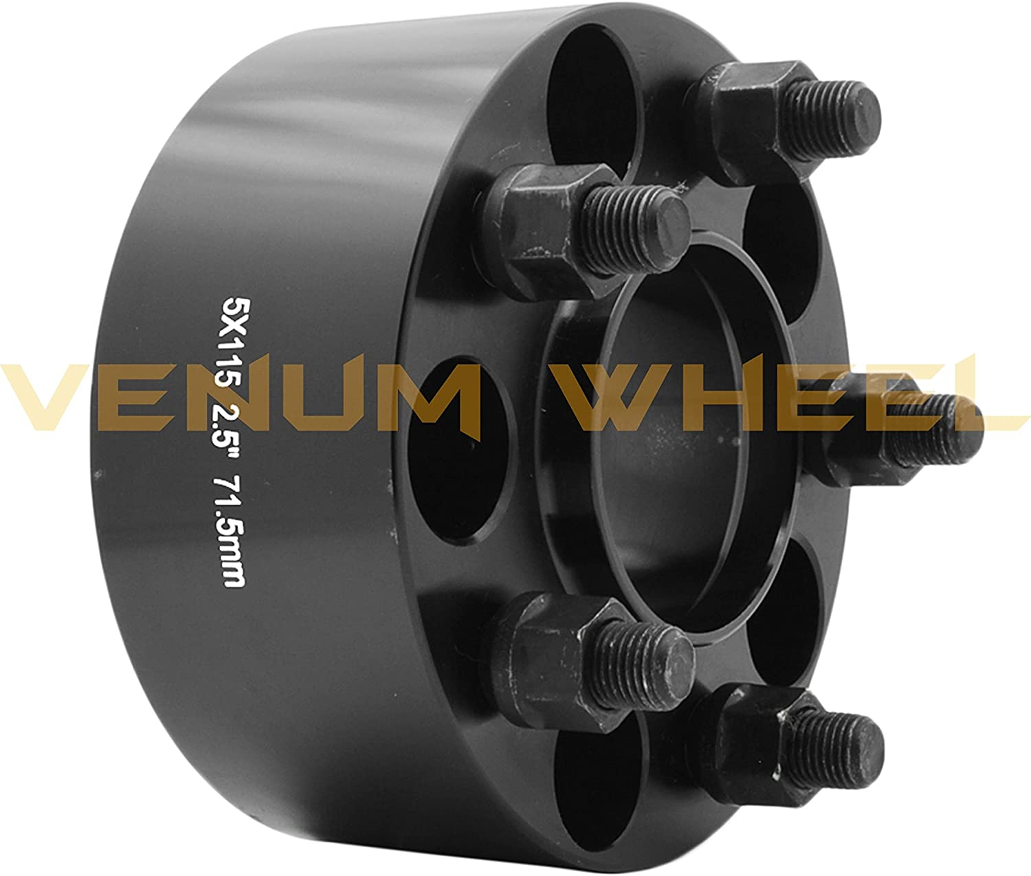 Hub Centric 71.5mm OEM Center Bore Scatpack R//T S//E L//X Models 2 Pc 5x115 Wheel Spacers 2.5 Thick Challenger SRT-8 Charger Magnum 14x1.5 Studs| For Hellcat Demon