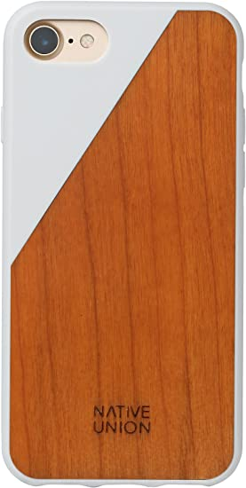 Native Union CLIC Wooden Case - Handcrafted Real Cherry Wood Drop-Proof Slim Cover with Screen Bumper Protection Compatible with iPhone SE (2020), ...