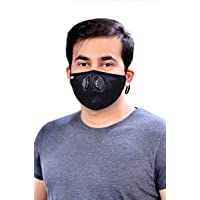 Onroad Co. Reusable Anti Pollution Mask with N95 Grade Filter, New Gris Series - Large (Ideal for 60-90 kg weight range)
