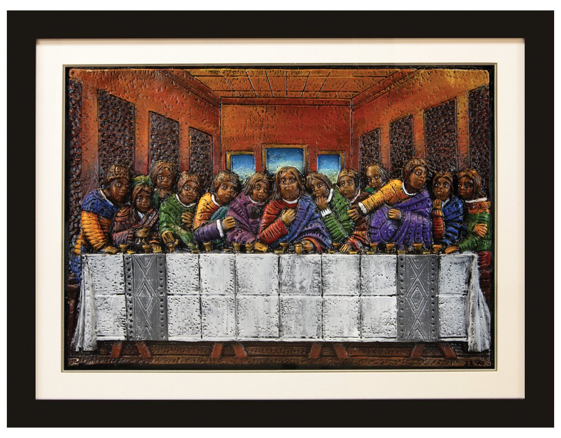 African American Expressions Last Supper Relief Art by D.D. Ike by African American Expressions