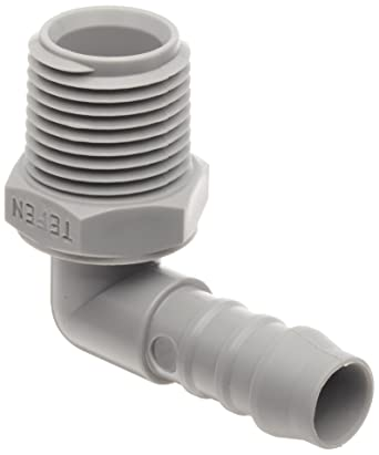 Plastic 3//4 MPT x 1 Barb Elbow Adapter