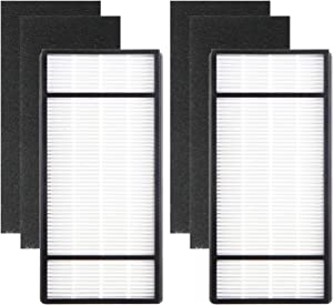 Colorfullife HRF-H2 True HEPA Air Purifier Replacement Filter Compatible Honeywell Air Purifier HPA060, HPA160, HPA050, HPA150, HHT055, HHT155, 2 True HEPA HRF-H2 / Filter (H) 4 Pack Pre-Filters