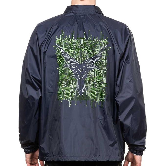 d4b66cc7028b Thrasher Circuit Goat Coach Jacket Navy X-Large  Amazon.co.uk  Clothing