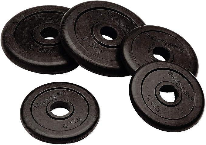 Hochwertige PU-Beschichtung 50 mm Bohrung Widerstandsf/ähig und langlebig 1,25-25 kg Sport-Thieme Wettkampf-PU-Hantelscheibe Markenqualit/ät