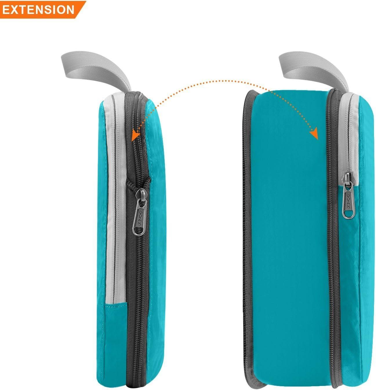 Kit de 3 pcs Bolsas Viaje Cubos Embalaje Almacenaje Extensibles Impermeable para Ropa Zapatos Cosm/éticos Accesorios Portatrajes Neceser Port/átil Gonex Organizador Maletas Equipaje Azul Claro