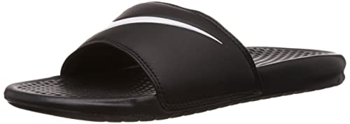 624e5a1599cc Nike Unisex Benassi Swoosh Black White Slide Sandals Shoes Sz  5-Men