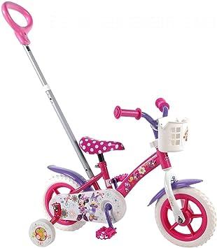 Bicicleta infantil Disney Minnie Mouse Bow de tique 10 pulgadas ...