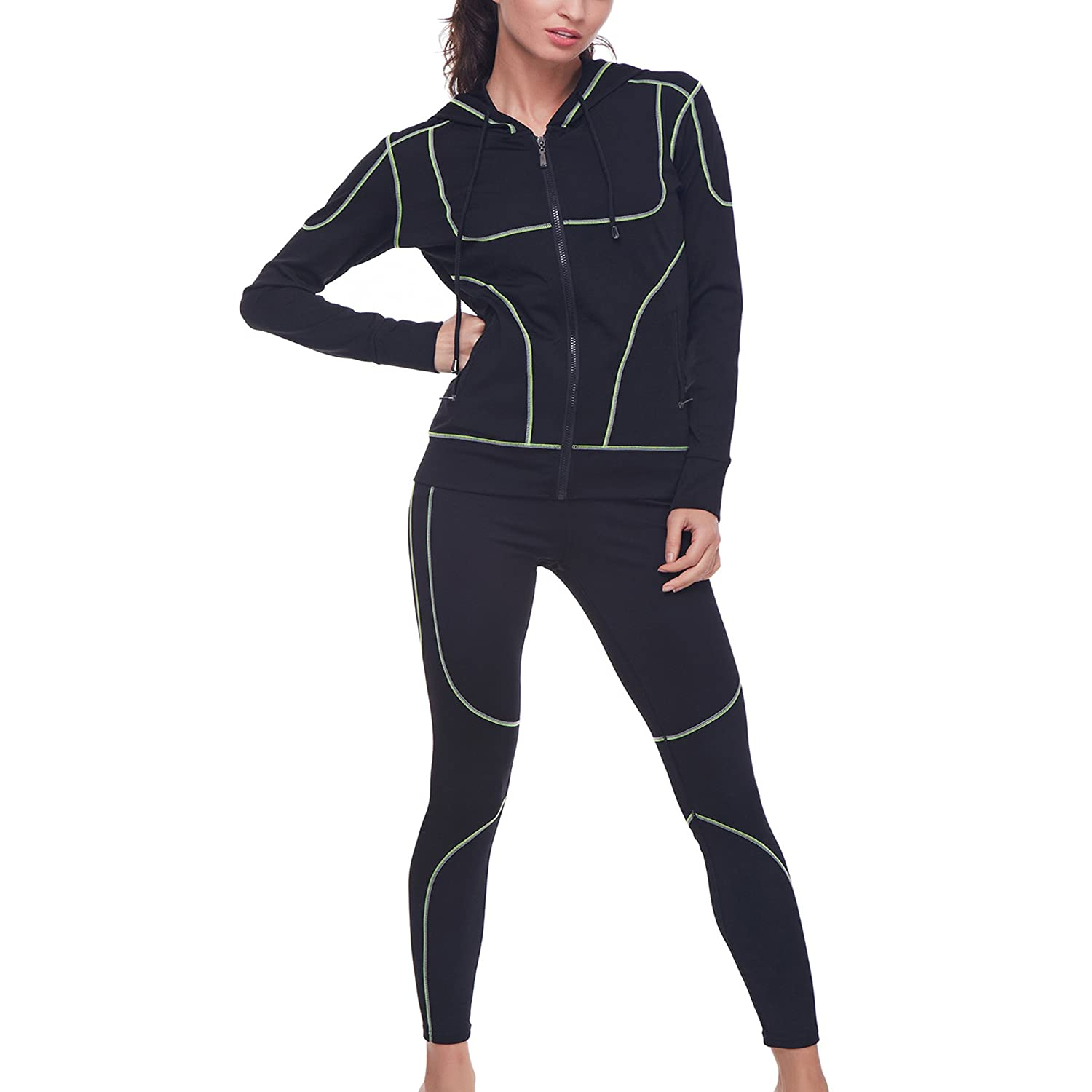 Fitness & Body Building Belleziva Women Yoga Set Fitness Clothes Crop Top Pants Running Tights Jogging Gym Sport Wear Elastic Workout 2pcs Tracksuit