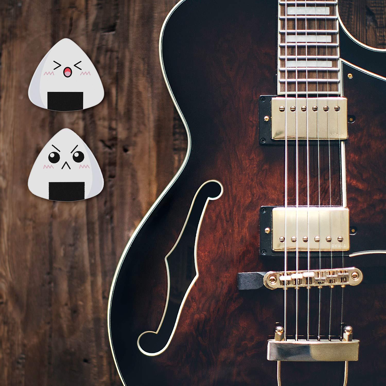 Dulphee Celluloid 18 Pack Guitar Picks Unique Vintage Pattern Design Guitar Plectrums Heavy Gauge 0.96mm for Acoustic Electric /& Bass Guitars