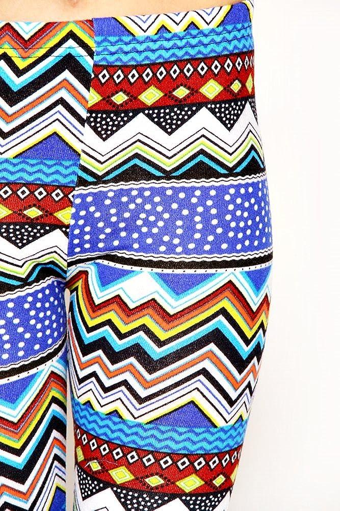 D.Top Tribal Print Hacci Leggings Blue