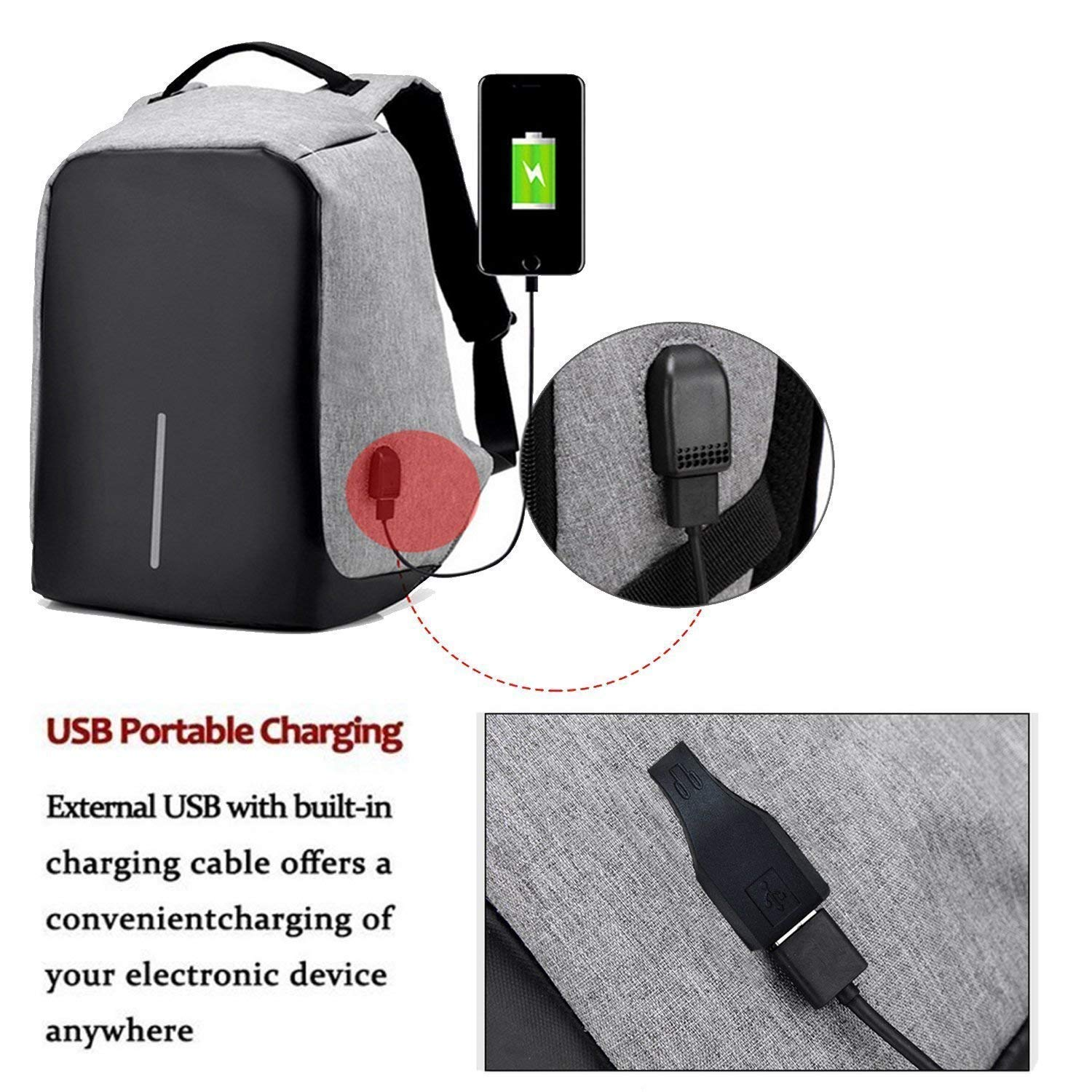 Buddymate BM25 Anti-Theft Water Resistant USB Charging Port Laptop Backpack  for School,Office   College (Assorted Colour)  Amazon.in  Bags, ... 548b118c34