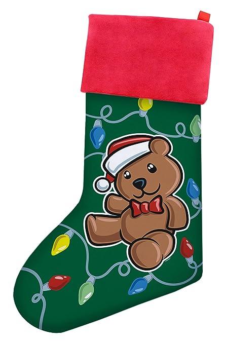 christmas stockings kids christmas teddy bear christmas stockings boys gift christmas stocking green