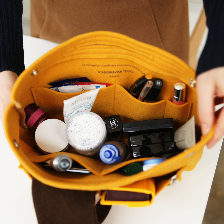 Medium Clear HAKKU Hair Iron Invite L Inner Felt Bag-Indigo