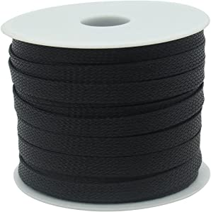 """Expandable Cable Sleeving – Cable Wire Sleeve1/2 (12mm) x 100Ft (30m) Lime2018 (Black, 1/2"""" x 100 FT)"""