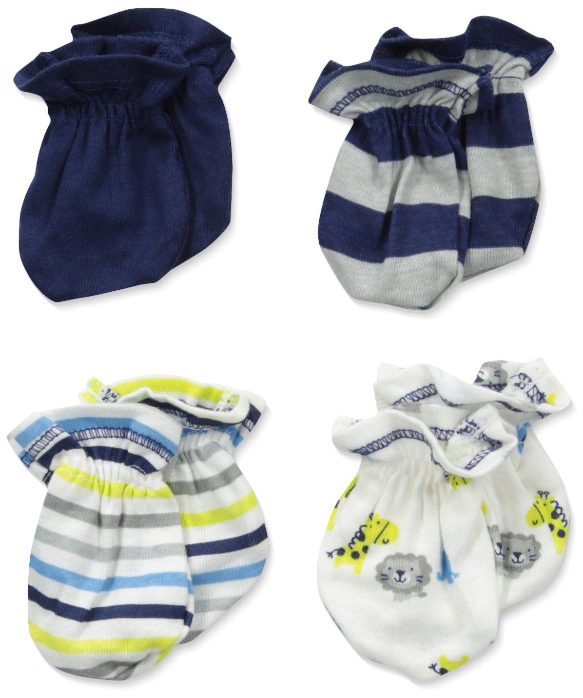 Gerber Baby Boys' 4 Pack Mittens Gerber Baby 4 Pack Mitten Safari 0-3 Months Gerber Children's Apparel