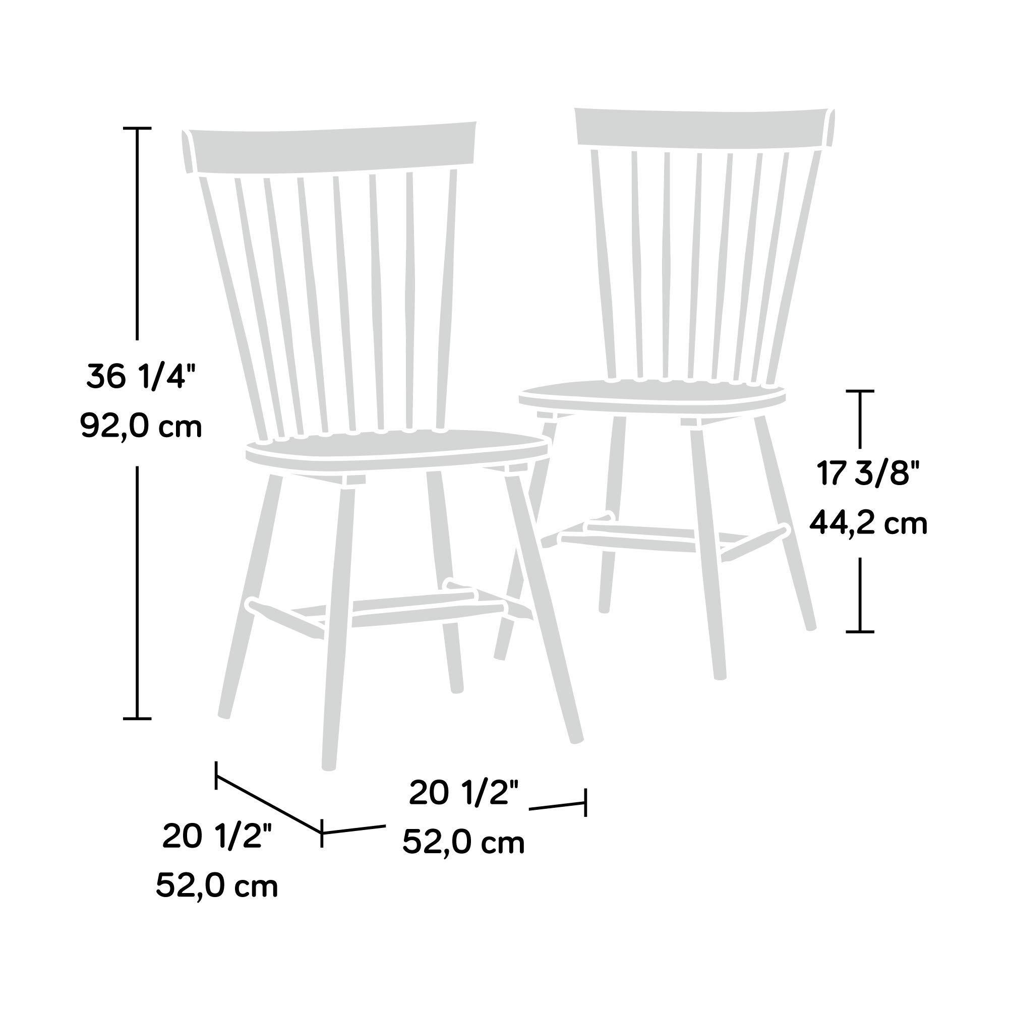 Sauder 418892 New Grange Spindle Back Chairs, L: 20.47'' x W: 21.26'' x H: 36.22'', Black finish by Sauder (Image #3)