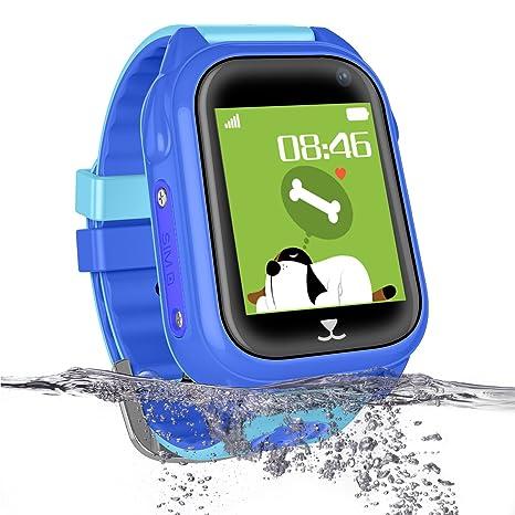 Reloj inteligente para niños, resistente al agua, reloj de pulsera ...
