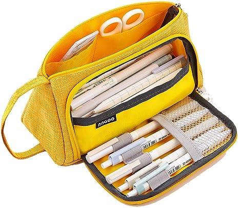 AidShunn Multifuncional Estuche de lápices de Gran Capacidad Bolsa de Lona Premium Bolsa de lápiz Organizador de papelería para niña: Amazon.es: Equipaje
