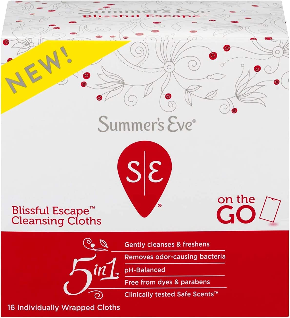 Summer's Eve Cleansing Cloths, Blissful Escape, 16 Count : Beauty