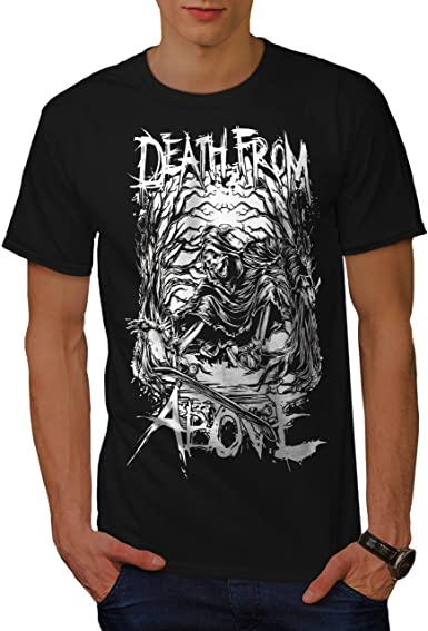 Wellcoda Grim Reaper Biker Mens Long Sleeve T-shirt Death Graphic Design