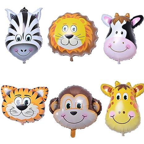 Zebratown 50pcs 30 Inch Cartoon Balloon Animal Tiger Lion Foil Balloons Child Toys Birthday Wedding Party