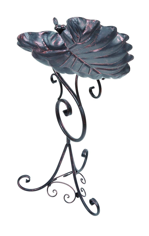 Gardman A09701 Dekoratives blattförmiges Vogelbad