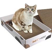 ComSaf Durable Cat Scratcher Cardboard Refill, Cat Scratch Pad, 3 in 1 Recyclable Corrugated Scratcher, Reversible…
