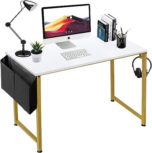LUFEIYA Small Computer Desk White Writing Table